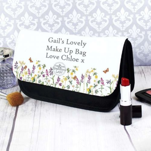 Personalised Country Diary Wild Flowers Makeup Bag